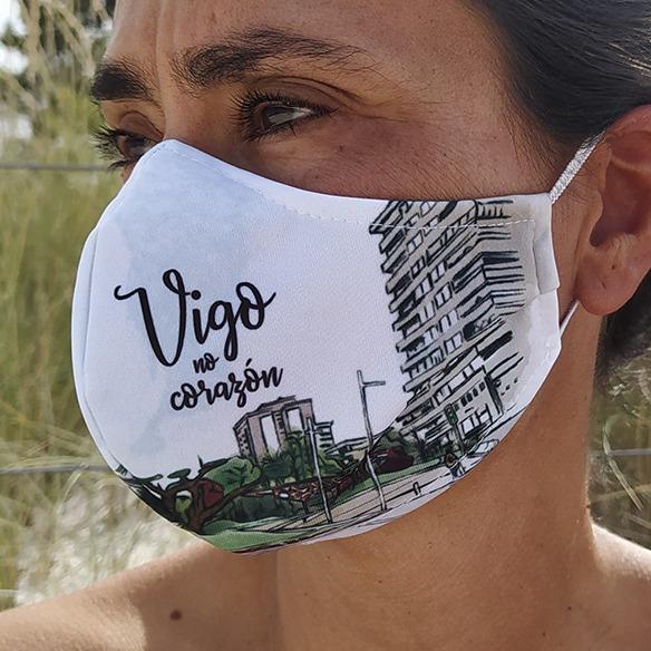 Mascarilla Reutilizable Plaza America Vigo