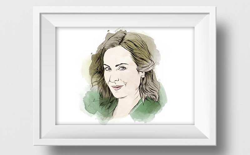 Ilustración a lápiz y acuarela de Ana Milan