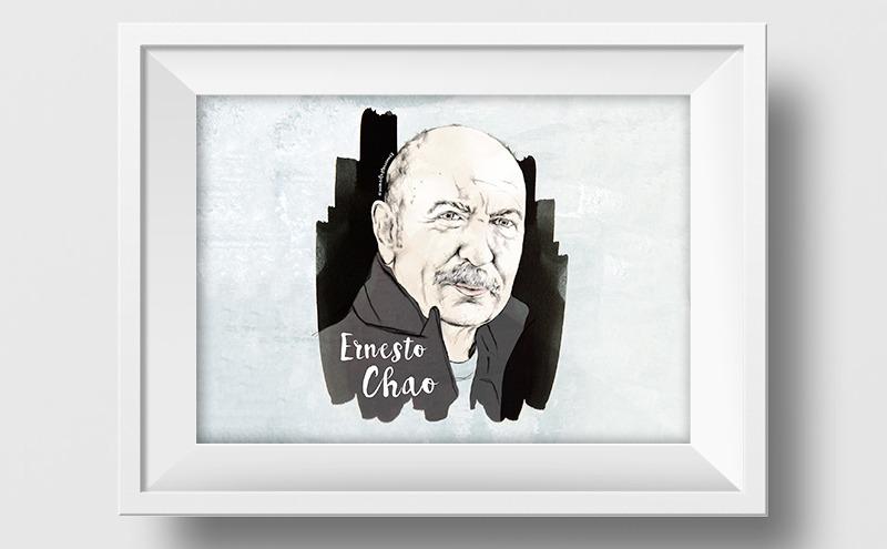 Ilustración a lápiz y acuarela de Ernesto Chao