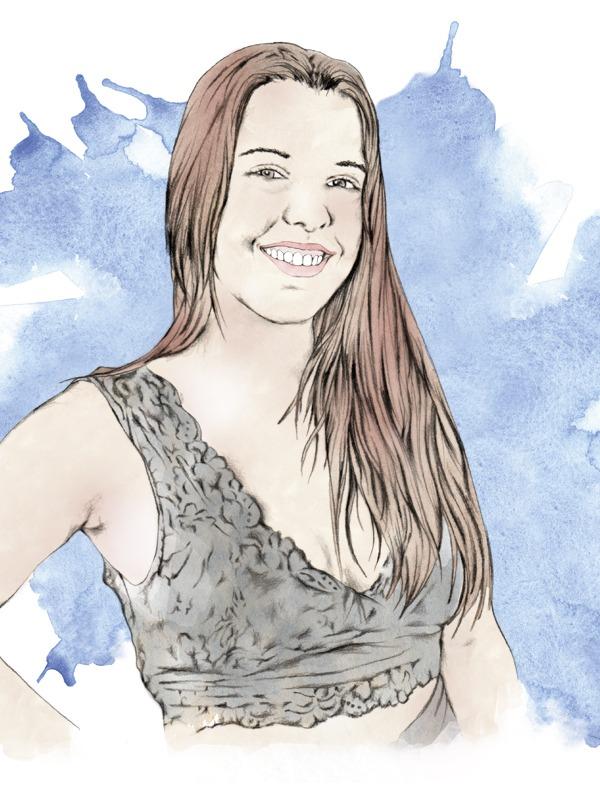 Ilustracion personalizada chica