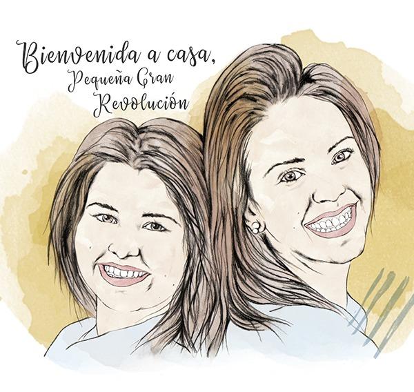 Ilustracion personalizada hermanas