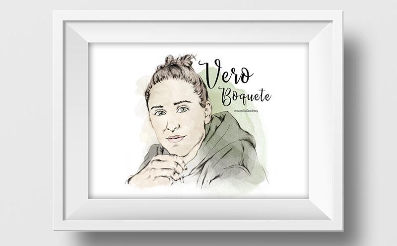 Ilustración a lápiz y acuarela de Vero Boquete